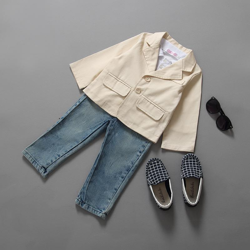 2015 brand Spring autumn children clothing set sport suit kids baby boys clothes sets fashion T-shirt Suit Jeans Pants 3 pcs set<br><br>Aliexpress