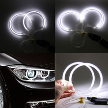 Auto  4x For BMW 3 Series E46 E36 E38 E39 CCFL Angel Eye Halo Light White No Projector feb27