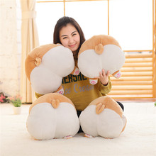 "15"" Novelty Corgi Butt Plush Corgi Pillow Hip Hand Warmer Cartoon Animal Sofa Cushion Stuffed Dog Kids Toys"