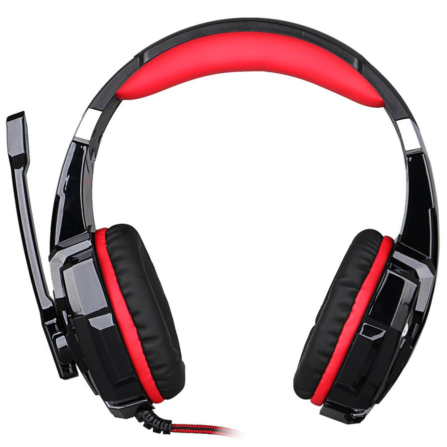 Adroit  Stereo Gaming Headphone Computer Game Headset with Mic Red LED Light JAN26 drop shipping<br><br>Aliexpress