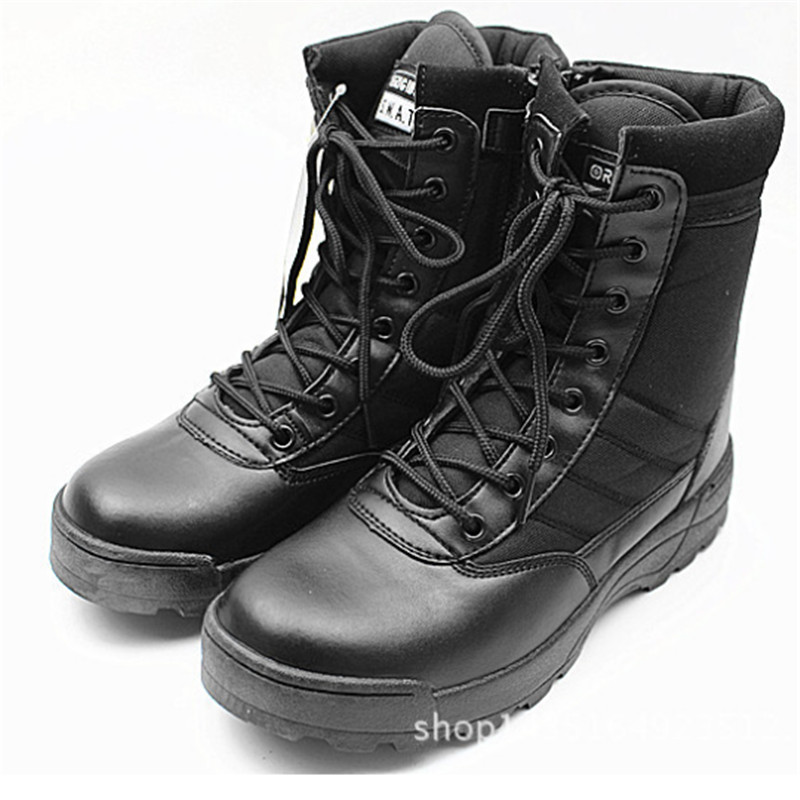 Women couples New 2017 non slip leather high boots to outdoor desert combat boots casual Walking shoes Climbing chaussure homme<br><br>Aliexpress