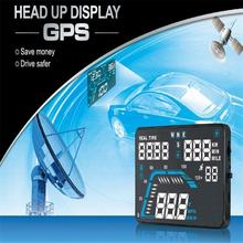 "New 2017 5.5"" Car HUD Head Up Display GPS Speed Warning System Fuel Consumption"