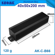 1 piece free shipping aluminum anodizing Black color extrusion enclosures for electronics case design 40*50*200 mm
