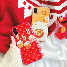 POEME CREATION Mobile Phone Accessories Fashion Soft TPU China Style Mobile Phone Case for iPhone X 6 6S 7 8 Plus(China)