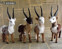 one piece simulation goat toy lifelike handicraft sheep gift about 18x6x23cm