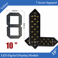 "10pcs/lot 10"" Yellow Color Outdoor 7 Seven Segment LED Digital Number Module for Gas Price LED Display module(China)"