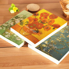 2017 New Blank Paper Classical Van Gogh Sketchbook Diary A4 Paiting Drawing Graffiti Sketch Book Notebook Pad School Stationery(China)