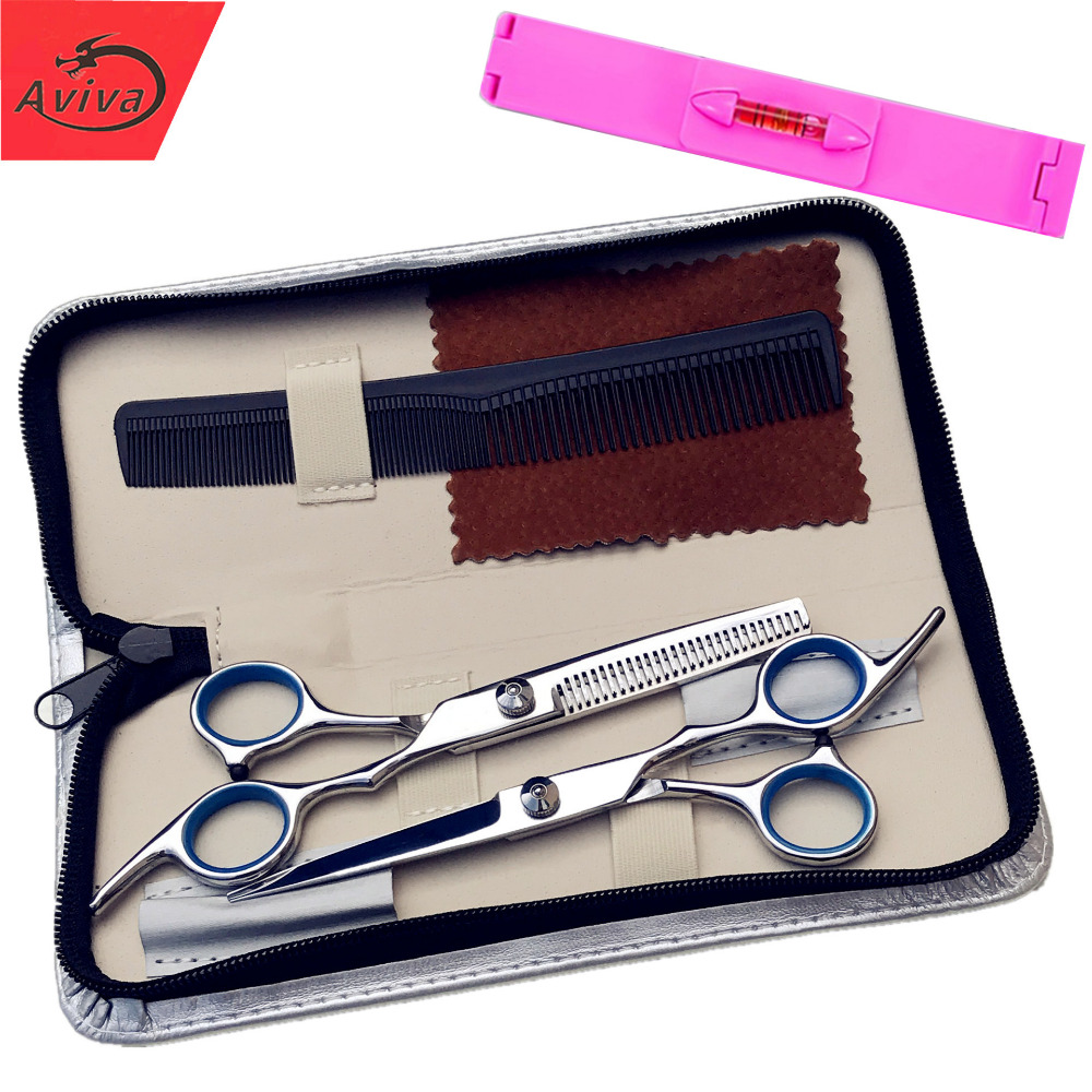 Aviva 6 inches Beauty Salon Cutting Tools Barber Shop Hairdressing Scissors Styling Tools Professional Hairdressing Scissors Set(China (Mainland))