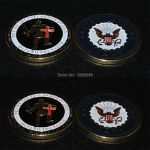 NEW U.S. Navy Armor of God Challenge Coin,2pcs/lot Free shipping