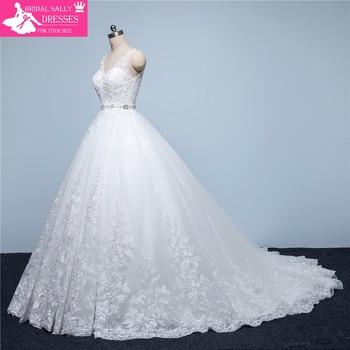 Hot Sale Lace Wedding Dress Vintage Wedding Gowns A-Line Alibaba China Robe De Mariage Vestido De Noiva MTOB1751