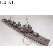 1:400 3D Japanese Destroyer Shimakaze Ship Boat Paper Model Assemble Hand Work Puzzle Game DIY Kids Toy Denki & Lin