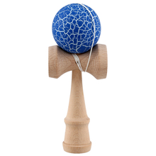 Crack Paint Kendama Ball Skillful Juggling Game Ball Japanese Traditional Toy Balls Educational Toys For Children-blue