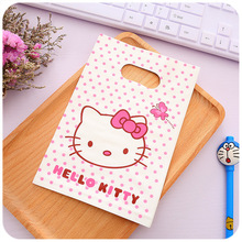 100pcs/lot Plastic bags wholesale small hello Kitty bag 13 x20cm boutique bags, gift bags Free shipping(China)