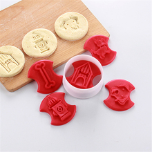 Cooking Tools 5 Pcs Amw Plastic Cookie Press Mould Stamp Baking Pastry Tools Christmas Dog Dinosaur Mold Cutters Set Cc1023