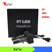 1 Pair H7 LED Car Headlights 60W 4200lm  LED Head Lamp Automobile Bulb Waterproof Car Led Fog Light Car Light Source