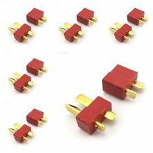 6 Pairs Model T Type Plug Connector T-plug Head Battery For Electric Aircraft Drone