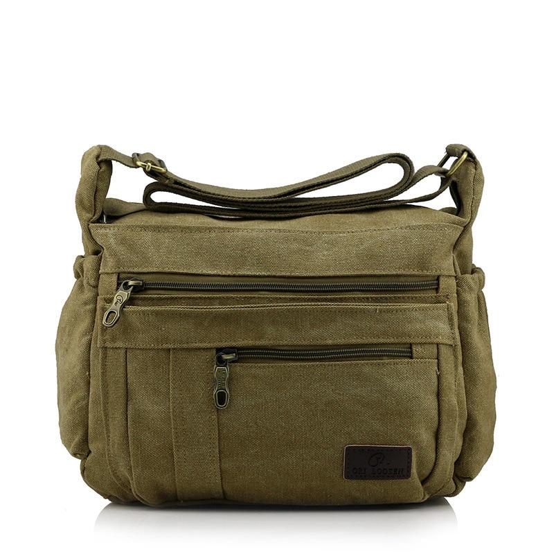 High Quality Men Casual Canvas Travel Bag Crossbody Shoulder Bag Men Messenger Bags Male Handbags Business Briefcase Leisure Bag<br><br>Aliexpress