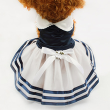 Armi store Tutu Lace Sailor Dog Dresses Stripes  Skirt For Dogs Dress 6071012 Pet Princess Clothing Wholesale