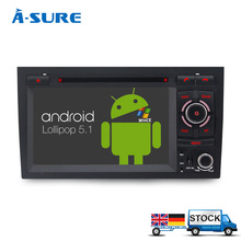 "A-Sure 7"" Car DVD Player 2 Din GPS Android 5.1 Radio Navigation for Audi A4 S4 RS4 8E 8F B7 B9 Seat Exeo DAB+/WIFi"