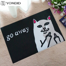 Cat With Middle Finger mat doormat Go Away Grumpy Cat Carpet Entrance Indoor Non-slip Floor Mat bathroom Rugs