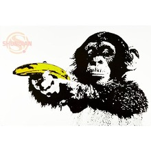 New Monkey Animals Poster Custom Best Wall Sticker Classical Posters Wallpaper Home Decor Modern Wall Poster(China)