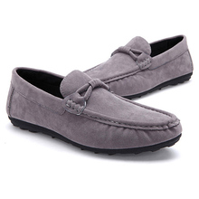 New Best Quality Soft Leather Men Flats Casual Shoes Artificial Suede Male Loafers Driving Boat Slip-On Breathable Shoe