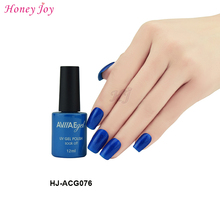 AVIIAE Bright Sparkle Deep Blue Color Gel Nail Polish Long-Lasting Soak-off LED UV Lamp Cure Cosmetic Make Up Gel Polish 12ML