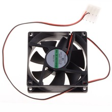80*80*25 MM Personal Computer Case Cooling Fan DC 12V 2200RPM 45CM Fan Cable PC Case Cooler Fans Computer Fans P20