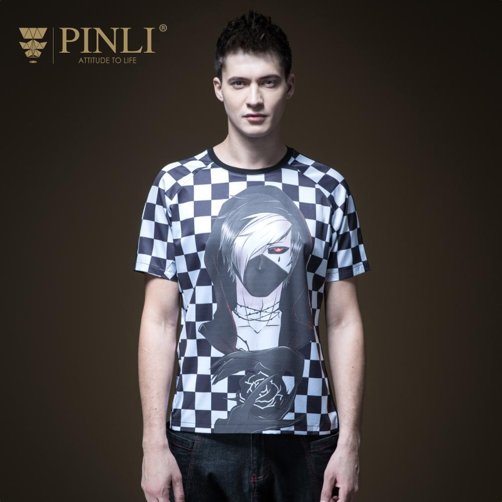 2018 Linkin Park Palace Made Summer New Men's Cultivate Morality Checked Printing Short Sleeve T-shirt B192111397 Round Collar
