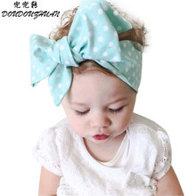 Nice Design Children Girls Wave Spot Headband Elastics For Newborns Elastic Fabulous Hair Accessories Perfect Gift Fast Shpping