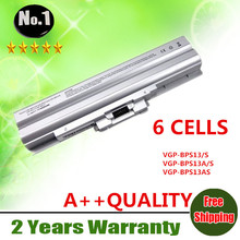 Wholesale New 6cells laptop battery FOR SONY VAIO VGN-AW  VGN-CS VGN-FW VGN-SR  SERIES VGP-BPS13B/S VGP-BPS13S free shipping