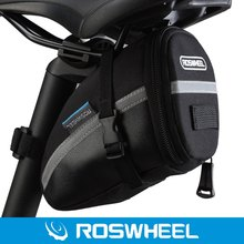 ROSWHEEL Mini Bicycle Bags Outdoor Cycling Saddle Bag Bike Pouch Polyester PVC Seat Tail