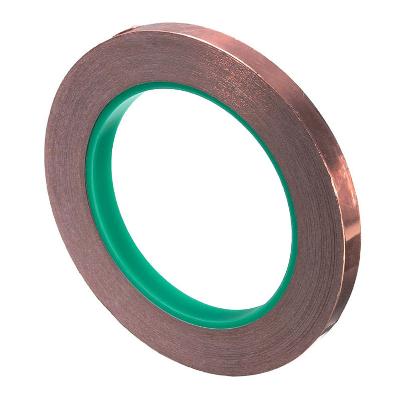 Newest 25 Meters 10mm EMI Copper Foil Shielding Tape Double Conductive Self Adhesive S2 Favorable Price<br><br>Aliexpress