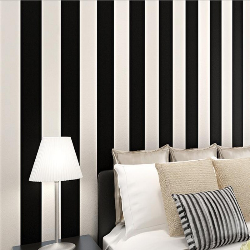 Beibehang Mediterranean style senior wallpaper volumes simple vertical stripes wallpaper home decoration wallpaper for wall 3 d<br>