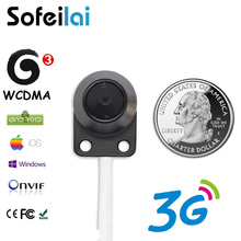 High quality mini 3G sim card wireless IP camera small 720P motion detect onvif TF card slot CCTV security P2P network cameras