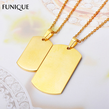 FUNIQUE Charms Stainless Steel Gold Color Rectangle Pendants Polished  Metal Stamping Blanks Pendants For DIY Jewelry