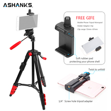 ASHANKS Mini Tripod with Holder Mount/Selfie Monopod with Bluetooth Remote + Clip for iPhone 7 Plus Sony Samsung Mobile Phone(China)