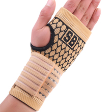 Elastic terylene latex material basketball volleyball palm hand bandage support free shipping #ST3011(China)