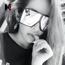 SHAUNA Oversize Flat Top Women Square Sunglasses Brand Designer Fashion Men Gradient Lens Shades(China)