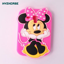 Cases For Samsung Galaxy S3 Mini I8190 8190 High Quality 3D Cartoon Lovely Minnie Pattern Silicone Mobile Phone CaseBack Cover(China)