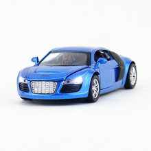 Free Shipping/Diecast Toy Model/1:32 Scale/Audi R8 Super Car/Pull Back/Sound & Light Car/Educational Collection/Gift For Kid(China)