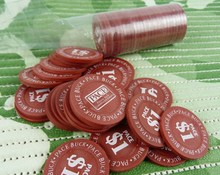 PokerStars Poker Chips Dealer Button Card Guard Mahjong Round Casino Code Plastic Chip Dice Children Toy Dollars Chips(China)