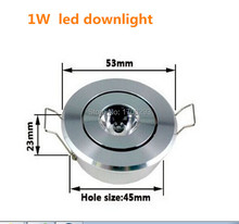 New 10pcs/lot Mini Downlight 100~180lumen,Cabinet lamp 52(D) x23(H)mm (hole 45mm),1W 3W  LED ceiling spot light bulbs