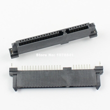 50 Pcs Per Lot SATA 7+15 Pin 22 Pin Straight DIP Female Hard Drive HDD Connector Adapter