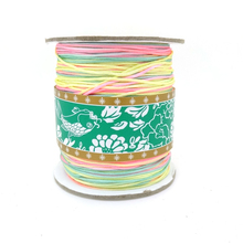 Free Shipping,1mm 275 Yard/Spool Rainbow Colorful Shamballa Nylon Cord,Exquisite Waxed Thread For Bracelet Necklace Making(China)