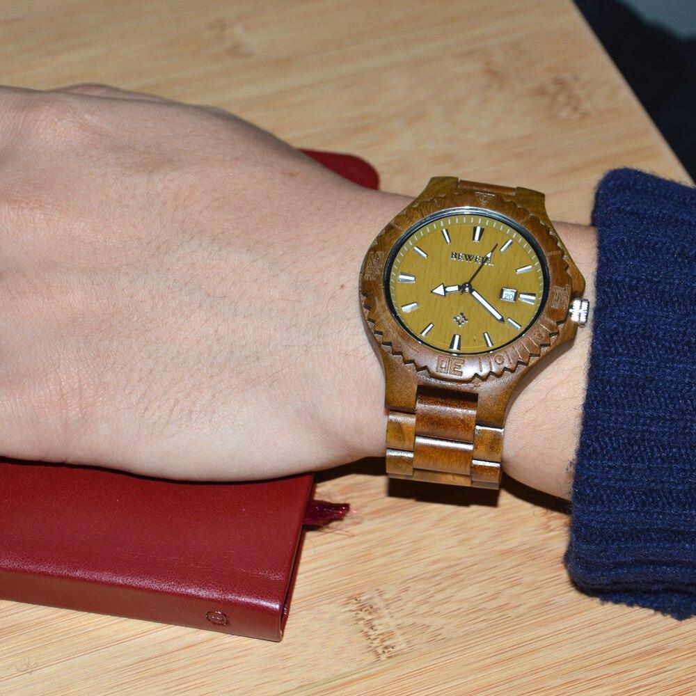 Bewell BEWELL Wood Watch Men Desiger Watches Calendar %