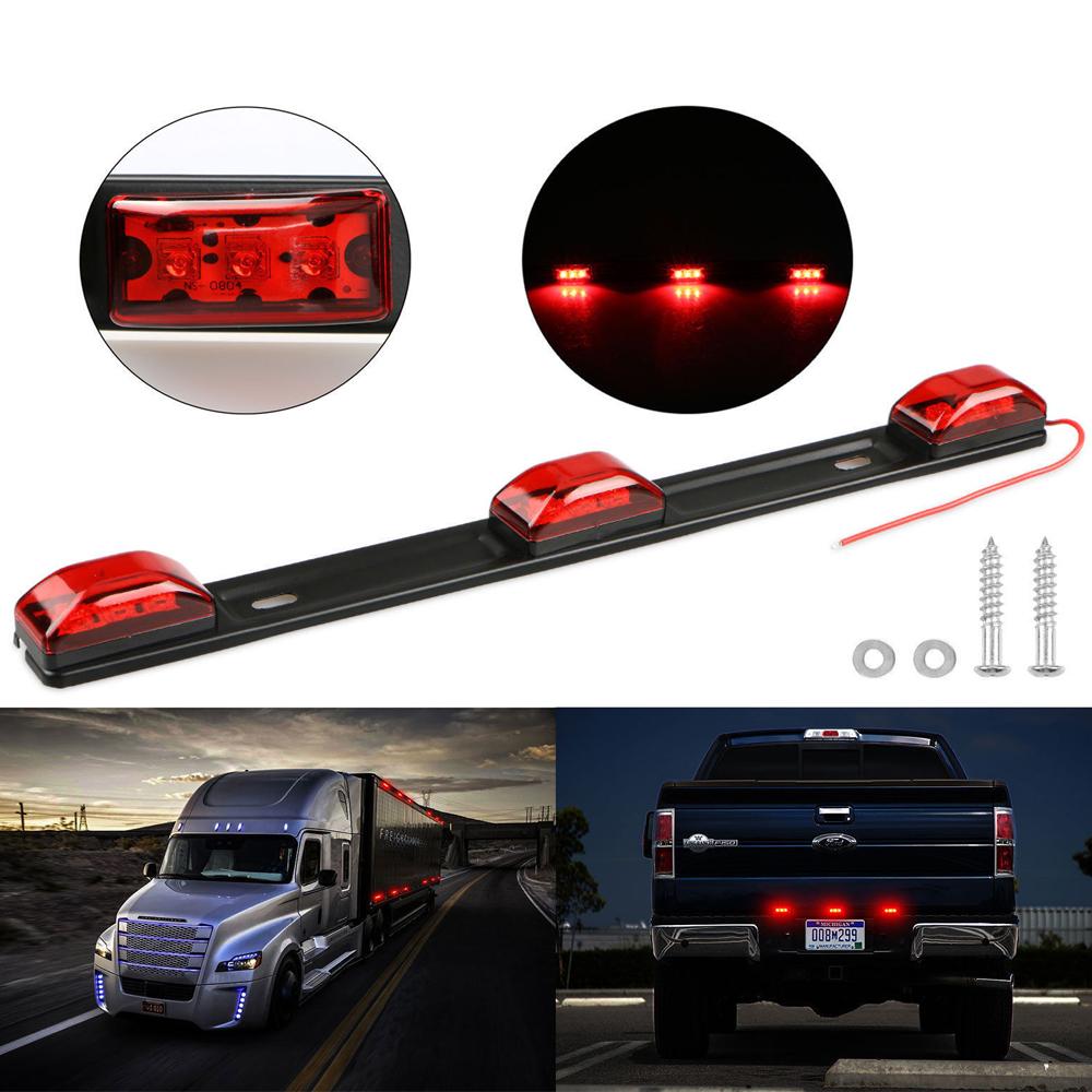 Red 3 LED Light Lamp Bar