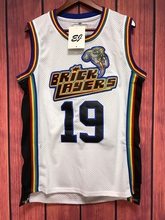 EJ Aaliyah #19 Bricklayers 1996 MTV Rock N Jock Basketball Stitched Jersey WHITE S-3XL