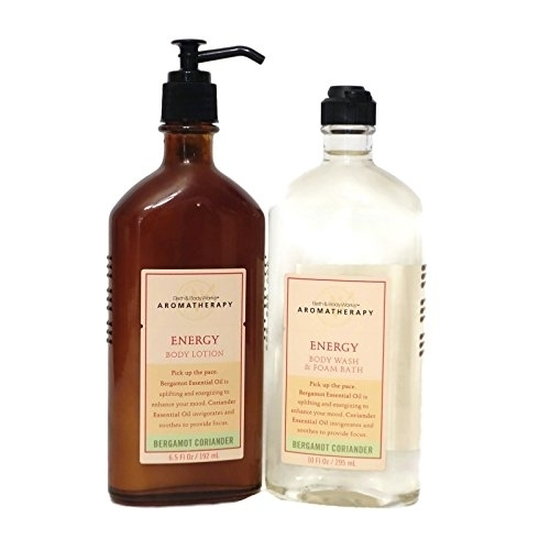 Bath and Body Works Aromatherapy Sleep Energy Sensual Stress Relief Sleep Lotion and Body Wash Set (Bergamot Coriander)