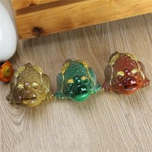 Classic 3 Colors Color Changing Lucky Money Toad Figurine Resin Handicraft Mascot Statue Ornaments Feng Shui Tea PetHome Decor
